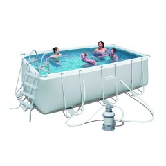 Bestway Swimming Pool 8700 Lt Family Rectangular Frame With Sand Filter: 56457