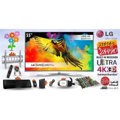 "LG 55"" Ultra HD 4K LED TV 3D Smart Wireless WEBOS 3.0 TV with Built-in HD Receiver: 49UH850V"