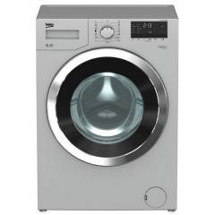 BEKO Washing Machine Full Automatic 9 KG 1200 rpm Silver With Chrome Big Door: WMY91230SLB1