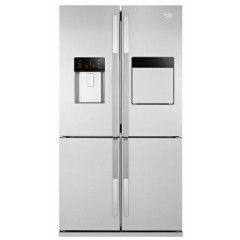 BEKO Refrigerator Side x Side 590 Liter NoFrost Digital with Water Dispenser Stainless Steel: GNE134590X