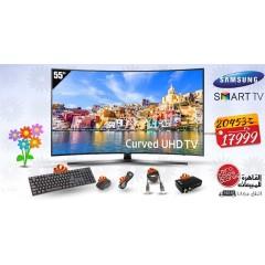 "Samsung TV 55"" LED Curved UHD Smart Wireless: 55KU7350"