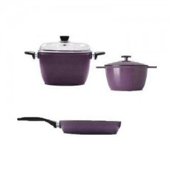 IEMCO Kitchen Set 2 Pots 24+14 cm and Pan 18 cm Anti-Sticking: IEMCOSET71