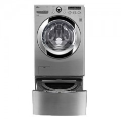 LG Washing Machine Twins 15 KG and 3.5 Kg With Dryer 9 KG Steam Silver: F10F6RDS27Twins