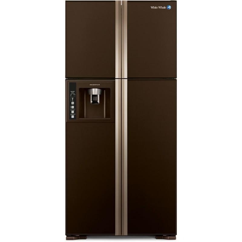 White Whale Refrigerators 540 Liter 4 Doors Glass Brown: WRF