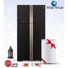 White Whale Refrigerator 509 Liter Black Color + FREE Minibar + Free Gifts: WRF-G6099HT GBK