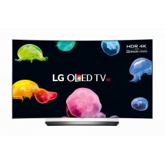 """LG TV OLED Curved 65"""" Ultra HD 3D Smart WebOS 3.0 With Bult-in Receiver + FREE TV 49"""" + Gifts: OLED65C6V"""
