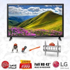 "LG 43"" Direct LED TV Full HD With Built-In HD Receiver + Gifts: 43LJ510V"