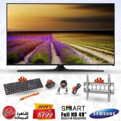 "Samsung LED 49"" Full HD Smart TV Wireless Built-in Receiver + Gifts: 49J5200"
