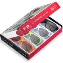 LG Party-Pack coloured 3D 4 glasses :AG-F315