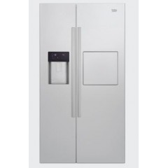 BEKO Refrigerator 3 Doors 616 Liter NoFrost With Water Dispenser Silver Color: GN162420X