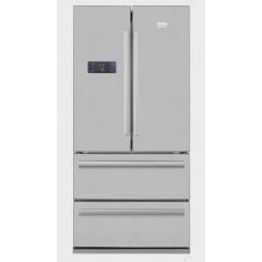 BEKO Refrigerator 605 Liter 4 Doors NoFrost Digital Silver Color: GNE60500X