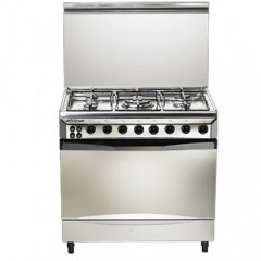 Universal Gas cooker 5 Gas Burners Stainless With Fan: 8505-16