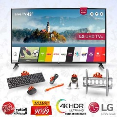 "LG 43"" LED TV Ultra HD 4K Smart WebOS 3.5 With Built-In 4K Receiver: 43UJ630V"