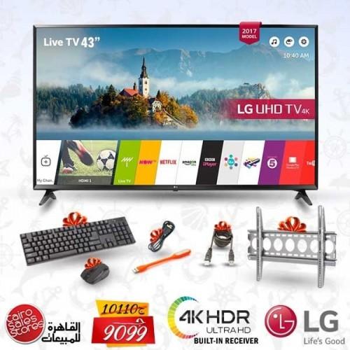 """LG 43"""" LED TV Ultra HD 4K Smart WebOS 3.5 With Built-In 4K Receiver: 43UJ630V"""