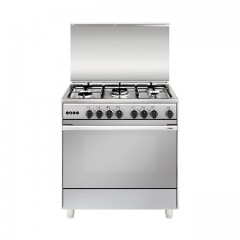 Glem Gas UNICA Cooker 90x60 5 Burners Full Stainless Steel Safety With Fan: UN9638R101CC