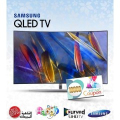 "Samsung TV 55"" QLED Curved UHD 4K Smart Wireless: QA55Q7CAM"