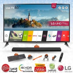 "LG 65"" LED TV Ultra HD 4K Smart WebOS 3.5 With Built-In 4K Receiver: 65UJ630V"