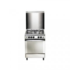 Universal Gas cooker 4 Gas Burners 55x55 cm Iron Cast Stainless Digital Timer: IC5504