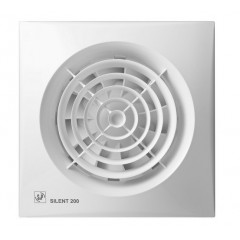 S&P Bathroom Extract Fan Silent 18cm 16 Watt 180m3/h: SILENT-200CZ
