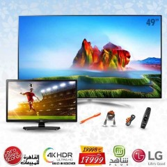 "LG 49"" LED TV Super Ultra HD 4K Smart WebOS 3.5 With Built-In 4K Receiver: 49SJ800V"