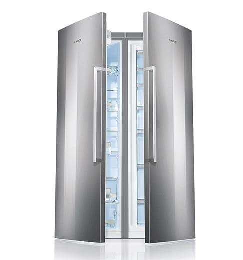 Bosch Twin Refrigerator 346 Liter Freezer 237 Liter Stainless
