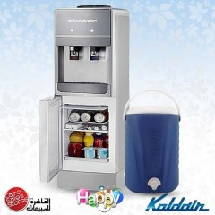 Koldair Water Dispenser 2 SPIGOTS COLDHOT With Wheel Base And Fridge: KWD Classic 10.1