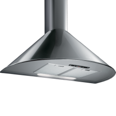 Turbo Air Hood 90 cm 600 m3/h Rounded Stainless: AGRIGENTO 90