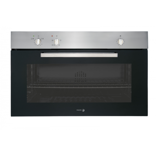 Fagor Gas Built-In Oven 90cm Multi function Stainless Steel Digital With Fan: 6H-902X