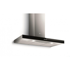 Turbo Air Chimney Hood 90cm Stainless With Black Panel 800 m3/h: NORMA 90