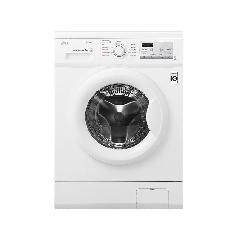 lg washing machine 8 kg direct drive 6 motions steam white color fh4g7tdy0 cairo sales stores. Black Bedroom Furniture Sets. Home Design Ideas