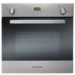 Ariston Gas Built-In Oven 60cm With Gas Grill Safety Digital Stainless Steel: FHY GG X