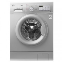 LG Washing Machine 7 Kg 1200 rpm With Steam Direct Drive 6 Motions Silver: FH2G7QDY5