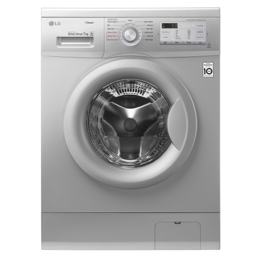 LG Washing Machine 7 Kg 1400 rpm Direct Drive 6 Motions Silver: FH2G7QDY5