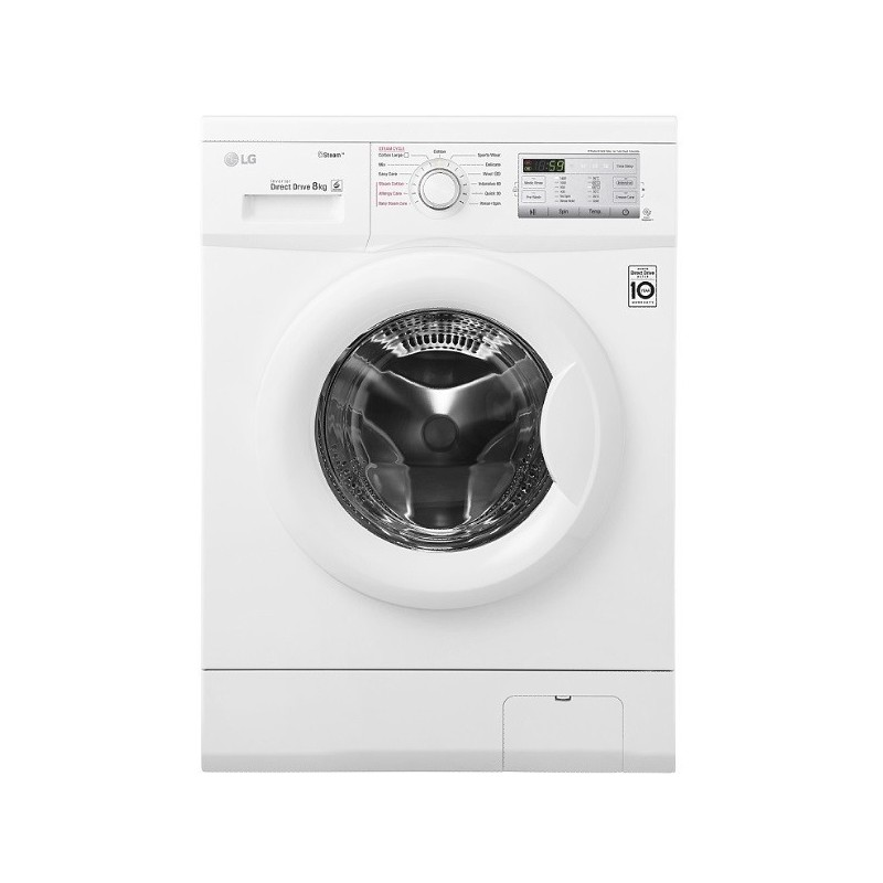 lg washing machine 7 kg 1200 rpm direct drive 6 motions steam white fh2g7qdy0 cairo sales stores. Black Bedroom Furniture Sets. Home Design Ideas
