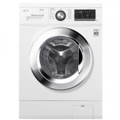 LG Washing Machine 7 Kg 1400 rpm Direct Drive 6 Motions White: FH4G6QDY2
