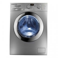White Point Washing Machine 10 Kg 1200 rpm Digital Silver: WPW 10121 DBC