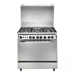 White Point GAS COOKER GAS 60*80 CM 5 BURNERS Stainless Steel: WPGC 8060XA