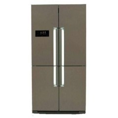 White Point Refrigerator NoFrost 4 Doors Side by Side Silver: WPR916X