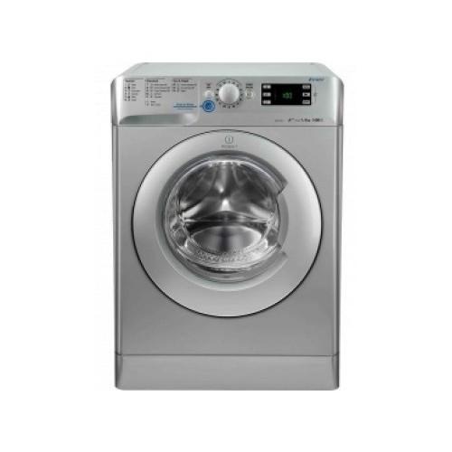Indesit Washing Machine 9 KG With Dryer 6 Kg 1400 rpm Digital Silver: XWDE 961480X S EX