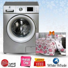 White Whale Washing Machine 7 KG 1400 RPM Silver + Gift: WD-12710LS Premium