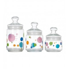 Luminarc Sugar Bowl Set 3 Pieces: H9974-H8098