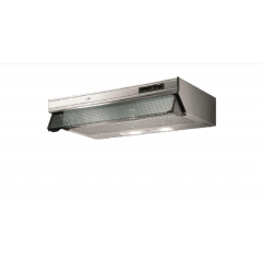 Turbo Air Hood 60cm 450 m3/h Stainless With Glass Canopy: K801-60