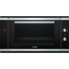 Bosch Built-In Electric Oven 90 cm 77 Liter With Grill and Fan Stainless Steel Digital: HVA541NS0