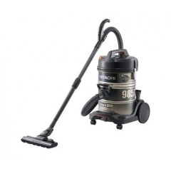 HITACHI Pail Can Vacuum Cleaner 2200 watt with 2 Filters in Black x Gold color: CV-985DC