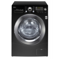 LG Washing Machine 9 KG with steam Black: F14A8TDS26