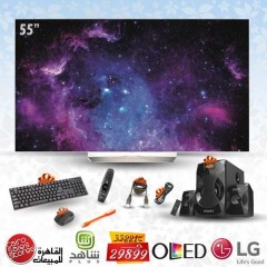 "LG 55"" OLED Full HD TV SMART Wirless With Built-in Receiver HD: 55EG9A7V"