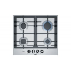 Bosch Built-In Gas Hob 4 Burner 60 cm Iron Cast Stainless Steel: PCP6A5B90M