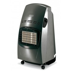 Delonghi Gas Heater 4200 Watt 3 Heating Power Levels With Double Safety System: SRI-CE-SILVER