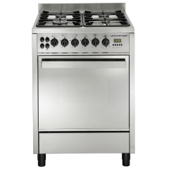 Universal Professional Gas Cooker 4 Burners 60*60 cm Iron Cast Full Safety With Fan: 6604PR