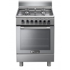 Tecnogas 60*60 cm 4 Burners With Fan Full Safety Stainless: N3X66G4VE